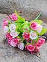 1 Gren Silke Roser Bordsblomma Konstgjorda blommor 22CM