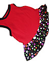 Hundar Klänningar Röd Hundkläder Sommar Prickiga / Hjärtan Mode