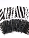 30 st / set, 3d spik klistermärken-black_lace 30 mönster, naken packning