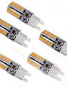 5W G9 LED-lampa T 32 SMD 2835 150 lm Varmvit Dekorativ AC 220-240 V 5 st