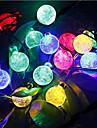 6m 30LED kristallkula sträng ljus sol dekoration lampor vattentät utomhus trädgårdsträd fe belysning vit rgb