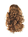Length Golden Brown Wig 34CM Synthetic Curly High Temperature Wire Gripper Horsetail Hair Color 7027
