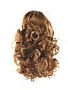 längd gyllenbrun peruk 34cm syntetisk lockigt hög temperatur tråd gripsvans hårfärg 7027