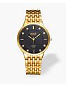 Bărbați Ceas La Modă Quartz Energie solară Ceas Casual Aliaj Bandă Luxos Auriu Alb Negru Galben