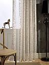 Två paneler Europeisk Kurva Enligt bilden Living Room Linne/Bomull blend Sheer gardiner Shades