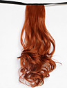 vatten våg röd blond syntetiska bandage typ hår peruk hästsvans (färg 119)