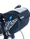 ROSWHEEL® Cykelväska 3LVäska till cykelstyret Vattentät dragkedja Bärbar Fuktighetsskyddad Stötsäker CykelväskaPU Läder 400D Nylon Nät