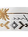 Airbrush-tatueringsstenciler- tillDam / Vuxen-Guld-Papper-1- styck8*11*0.3