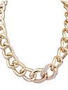 Dame Coliere Choker Coliere cu Pandativ Coliere Ștras Aliaj Declaratie de bijuterii Bohemia Stil La modă Auriu BijuteriiPetrecere Zilnic