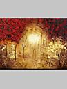 Peint a la main Abstrait / Paysage / Paysages Abstraits Peintures a l\'huile,Modern Un Panneau Toile Peinture a l\'huile Hang-peint For