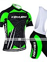 KEIYUEM® Cycling Jersey with Bib Shorts Women\'s / Men\'s / Unisex Short Sleeve BikeBreathable / Quick Dry / Dust Proof / Wearable /