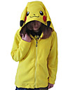 Unisex Polar Fleece Lovely Pikachu Kigurumi hoodie