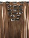 longueur 62cm haute temperature fil perruque extension brun cheveux synthetiques droite