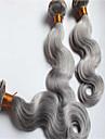 3pcs / lot billig silvergrå brasilianska jungfru hårweften förkroppsligar vinkar människohår väver 100g / st grossist 8-34inches i lager