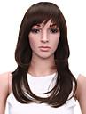 resistant faux cheveux perruque 20inch pas cher vague naturelle de chaleur perruques synthetiques brun fonce pour les femmes