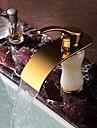Contemporain Set de centre Cascade / large spary with  Valve en ceramique Mitigeur un trou for  Ti-PVD , Robinet lavabo