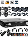 Ultra Low Price 8CH H.264 CCTV DVR Kit (8 CMOS Nightvision Cameras)