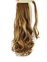 längd gyllenbrun peruk lockar hästsvans 60cm syntetisk kropp våg hög temperatur tråd färg 27