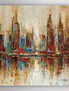 HANDMÅLAD Landskap olje~~POS=TRUNC,Moderna En panel Kanvas Hang målad oljemålning For Hem-dekoration