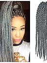 12-24 pouces crochet tresse havana mambo afro cheveux de torsion l\'extension gris argent avec crochet