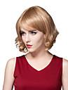 charmiga trendiga kort fluffig jungfruligt remy hand bunden-top Capless hår kvinnas peruk