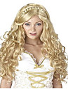 Capless Long Wave Blonde Color Cosplay Synthetic Wig
