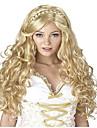 capless longue vague blond cosplay couleur perruque synthetique