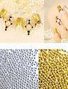 50g / paquet de nouvelles perles de caviar d\'or metal argent 3d ongles art decorations accessoires ongles bricolage outils de manucure