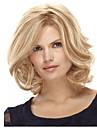12 pouces femmes court blond perruque synthetique cheveux raides avec connexion filet a cheveux