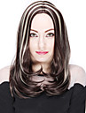 värmebeständigt billig falska hår peruk bob svart med blonda syntetiska peruker för kvinnor