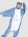 kigurumi Pyjamas Chouette Collant/Combinaison Fete / Celebration Pyjamas Animale Halloween Blanc / Bleu Mosaique Flanelle Kigurumi Pour