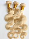 3 delar Kroppsvågor Human Hair vävar Brasilianskt hår Human Hair vävar Kroppsvågor
