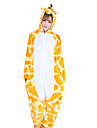 kigurumi Pyjamas Girafe Collant/Combinaison Fete / Celebration Pyjamas Animale Halloween Orange Mosaique Toison de Coral Kigurumi Pour