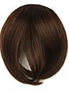 perruque brune 7cm couleur a haute temperature bangs fils obliques 2/30