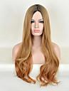 mode naturliga gyllene vågor av hög kvalitet brun färg syntetiskt hår