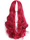 70 cm harajuku anime cosplaya peruker för kvinnor damer länge hela lockigt sexig syntetiskt hår röd peruk