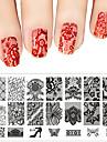 les femmes de la mode vernis a ongles dentelle art racleur estampage des plaques d\'image outil de pochoir de manucure