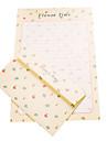 nouvelle lettre d\'amour romantique 6 lettre +3 enveloppe (motif aleatoire, 17,5 * 11cm enveloppe, lettre 18,6 * 26cm)