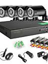 4-kanals 960h nätverk DVR 4pcs 1000tvl ir utomhus CCTV övervakningskameror systemkrav