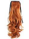 röd längd 50cm fabriken direkt försäljning binder typ curl hästsvans hår hästsvans (färg 119)