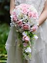 Flori de Nuntă Formă liberă Cascadă Trandafiri Buchete Nuntă Petrecere / Seară Satin Mătase Organza