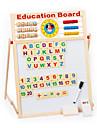 carte magnetique multifonctionnel d\'ecriture, l\'etude magnetique en bois double du tableau noir, jouets educatifs pour enfants