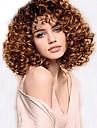 bäst säljande afrikansk brun peruk klädstil hög temperatur tråd kort lockigt hår peruk