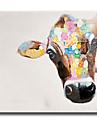 Peint a la main Animal Mediterraneen / Pastoral / Style europeen / Modern / Classique / Traditionnel / Realisme,Un Panneau ToilePeinture