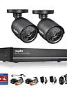 sannce® 4ch fullt 960h CCTV dvr med 800tvl mörkerseende väderbeständiga kameror systemet