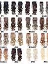 La queue de cheval de la mode des femmes postiches 50cm 22inch 100g extensions de cheveux synthetiques cordon longs boucles 16 couleurs