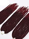punaise Twist cubique Tresses Twist Extensions de cheveux 22 inch Kanekalon 12 Brin 115-125g/pack gramme Braids Hair