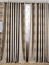 Deux Panneaux Le traitement de fenetre Neoclassique Mediterraneen Europeen Rustique Moderne , Feuille Salle de sejourMetisse Lin et