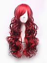 svart / röd lolita harajuku gradvis förändring peruk syntetiska peruker pelucas pelo naturliga manisk panik billig anime cosplaya peruk Perruque