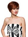 gracieuse capless naturelle ondulee courte remy main de cheveux humains attaches perruques -Top pour femme